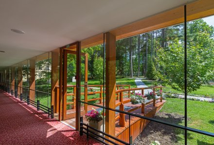 Waldpark im Spa Resort PAWLIK-AQUAFORUM in Franzensbad